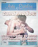 """""""Condenados: autoretratos de otros por Germán Gómez,"""" El Nuevo Siglo-Arte & Estilos, 10/09"""