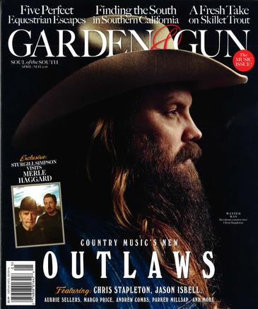 Damian Stamer in Garden & Gun Magazine