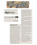 """Amorosi, A.D. """"City Limits: Divide and Consider"""", Art Matters, 11/01/08."""
