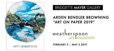 "Arden Bendler Browning in ""Art on Paper 2019"" at Weatherspoon Art Museum"