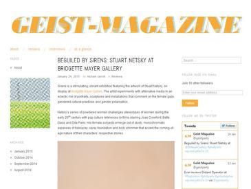 """""""Sirens"""" reviewed in Geist-Magazine"""
