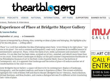 """Experience of Place"" reviewed by the artblog"