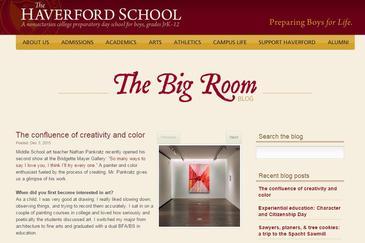 Nathan Pankratz Interviewed by Haverford School Blog