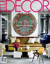 Ryan McGinness featured on the June 2014 cover of Elle Decor Magazine
