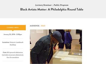 "Charles Burwell included in ""Black Artists Matter: A Philadelphia Round Table"" Panel"
