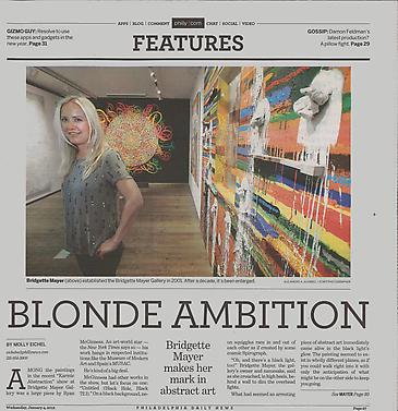 "Bridgette Mayer featured in Philadelphia Daily News article, ""Blonde Ambition"""