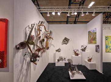 Dina Wind (1938-2014) receives Outstanding Philadelphia Artist Award on the opening night of the Philadelphia Fine Art Fair on Thursday, April 4, 2019.