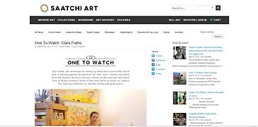 "Clara Fialho named ""One To Watch"" by Saatchi Art"