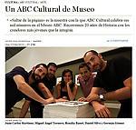 """Díaz-Guardiola, Javier. """"Otra Vuelta de la Pagina"""", ABC Cultural, 6/6/11"""