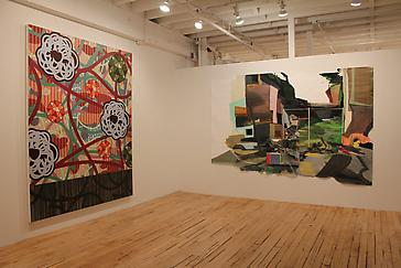 "Arden Bendler Browning, Rebecca Rutstein and Charles Burwell in ""Shifting Speeds"" at The Painting Center"
