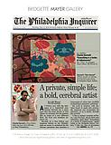 "Weaver, A.M. ""A private, simple life; a bold, cerebral, artist,"" Philadelphia Inquirer, 11/6/12."