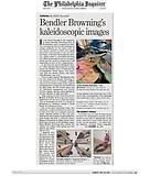 """Newhall, Edith. """"Bendler Browning's kaleidoscopic images."""" The Philadelphia Inquirer. 12/23/12."""