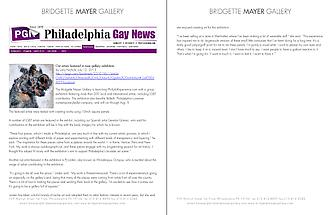 Benefit Exhibition for Ballet X and its LGBT contributors discussed in Philadelphia Gay News