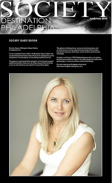 Bridgette Mayer as Guest Editor for Society Magazine