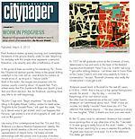 """Walsh, Bruce. """"Work in Progress"""", Philadelphia Citypaper, 3/3/10"""