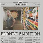 "Eichel, Molly. ""Blonde Ambition,"" Philadelphia Daily News, 1/4/12."