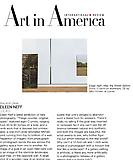 "Pym, William. ""Reviews: Eileen Neff,"" Art in America, 6/16/09."