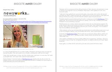"""""""Encouraging first-time art collectors--and visits to Philly"""" - Bridgette Mayer on NPR's Newsworks"""