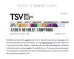"Stikin, Rachel. ""Arden Bendler Browning,"" TSV The Studio Visit. 11/11/2018"