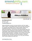 """Strauss, R.B. """"Art: Rebecca Rutstein,"""" aroundphilly.com, 11/7/07."""