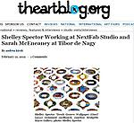 "Kirsch, Andrea. ""Shelley Spector Working at NextFab Studio,"" the artblog, 02/12/12."